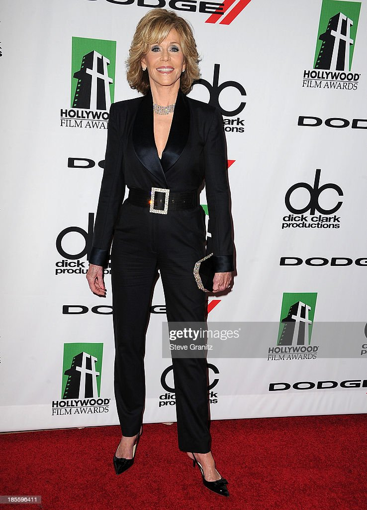 Jane Fonda arrives at the 17th Annual Hollywood Film Awards at The Beverly Hilton Hotel on October 21 2013 in Beverly Hills California