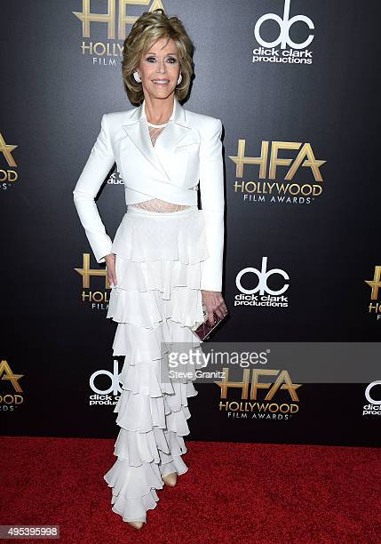 Jane Fonda arrives at the 19th Annual Hollywood Film Awards at The Beverly Hilton Hotel on November 1 2015 in Beverly Hills California