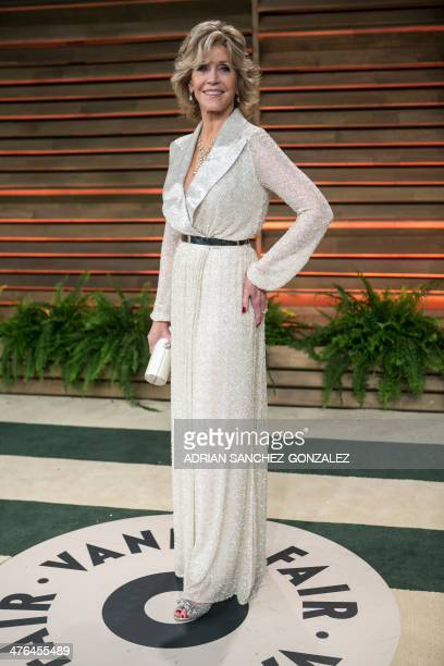 Jane Fonda arrives at the 2014 Vanity Fair Oscar Party on March 2 2014 in West Hollywood California AFP PHOTO/ADRIAN SANCHEZGONZALEZ