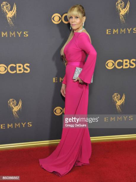 Jane Fonda arrives at the 69th Annual Primetime Emmy Awards at Microsoft Theater on September 17 2017 in Los Angeles California