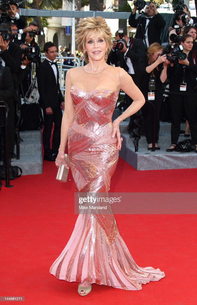 <a gi-track='captionPersonalityLinkClicked' href=/galleries/search?phrase=Jane+Fonda&family=editorial&specificpeople=202174 ng-click='$event.stopPropagation()'>Jane Fonda</a> arrives at the Opening Ceremony and 'Moonrise Kingdom' Premiere part of the 65th Annual Cannes Film Festival at Palais des Festivals on May 16, 2012 in Cannes, France.