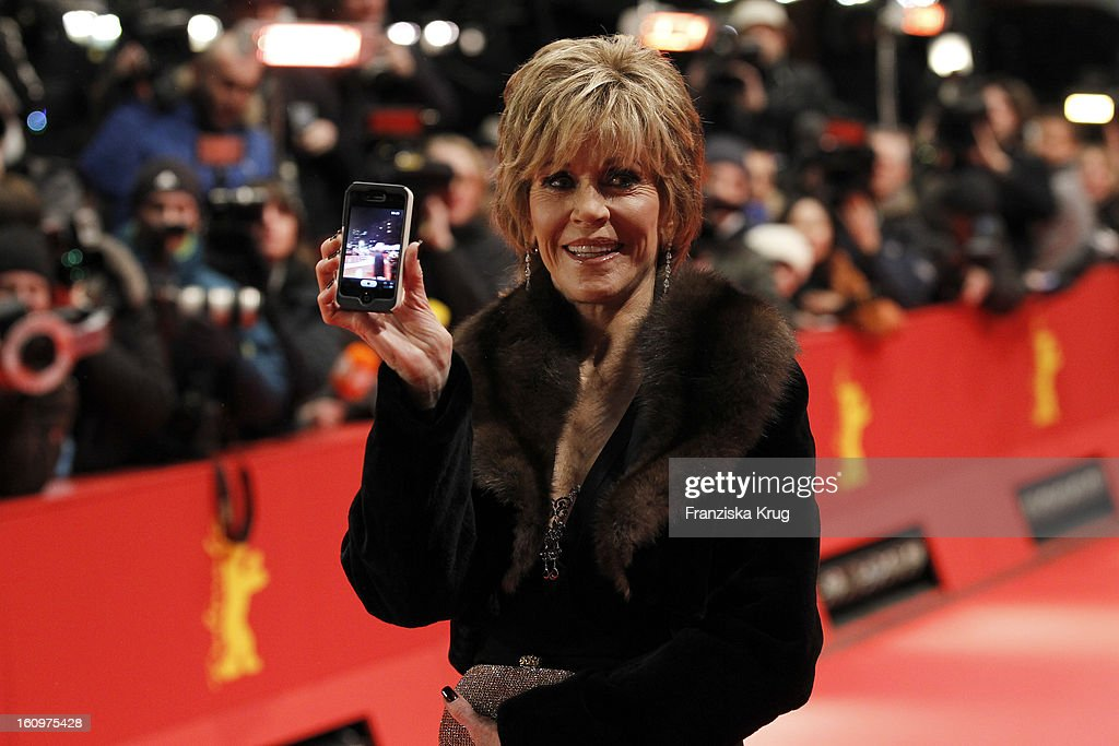 <a gi-track='captionPersonalityLinkClicked' href=/galleries/search?phrase=Jane+Fonda&family=editorial&specificpeople=202174 ng-click='$event.stopPropagation()'>Jane Fonda</a> arrives at the 'Promised Land' Premiere - BMW at the 63rd Berlinale International Film Festival at the Berlinale Palast on February 8, 2013 in Berlin, Germany.