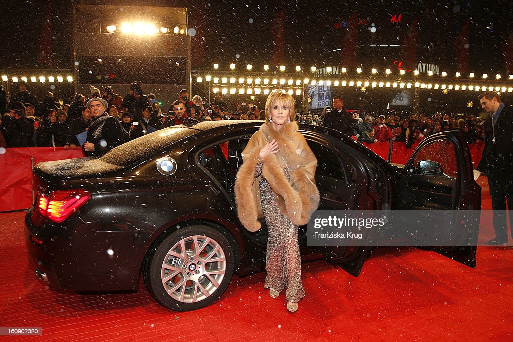<a gi-track='captionPersonalityLinkClicked' href=/galleries/search?phrase=Jane+Fonda&family=editorial&specificpeople=202174 ng-click='$event.stopPropagation()'>Jane Fonda</a> arrives at the 'The Grandmaster' Premiere - BMW at the 63rd Berlinale International Film Festival at the Berlinale Palast on February 7, 2013 in Berlin, Germany.
