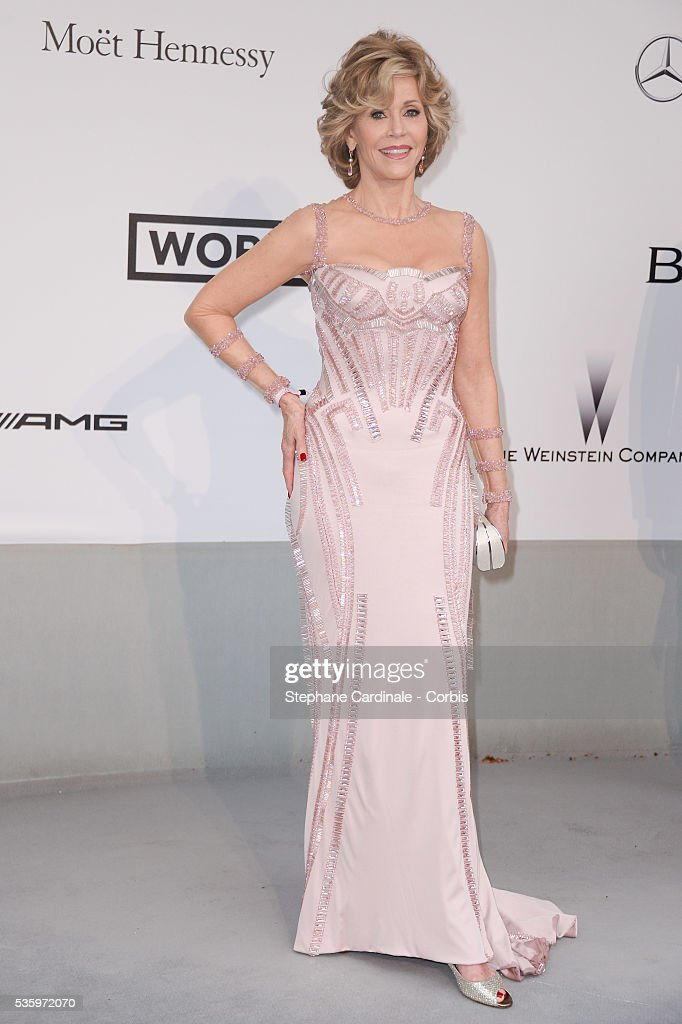 Jane Fonda at the amfAR's 21st Cinema Against AIDS Gala at Hotel du Cap-Eden-Roc during the 67th Cannes Film Festival