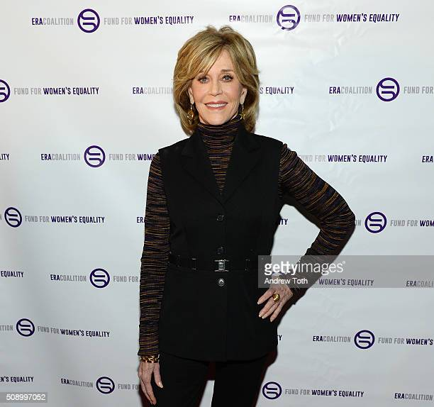 Jane Fonda attends 'A Night of Comedy with Jane Fonda Fund for Women's Equality the ERA Coalition' on February 7 2016 in New York City