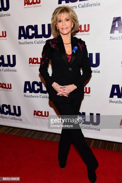 Jane Fonda attends ACLU SoCal Hosts Annual Bill of Rights Dinner at the Beverly Wilshire Four Seasons Hotel on December 3 2017 in Beverly Hills...