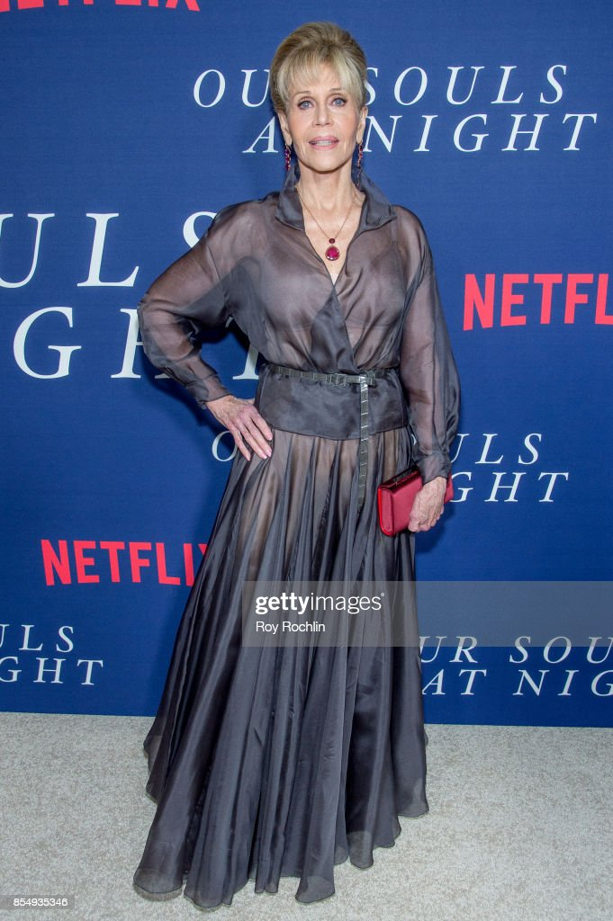 Jane Fonda attends Netflix hosts the New York premiere of 'Our Souls At Night' at The Museum of Modern Art on September 27, 2017 in New York City.