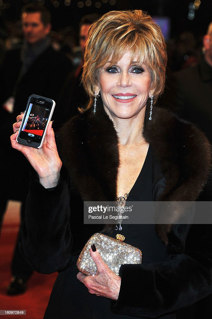 <a gi-track='captionPersonalityLinkClicked' href=/galleries/search?phrase=Jane+Fonda&family=editorial&specificpeople=202174 ng-click='$event.stopPropagation()'>Jane Fonda</a> attends 'Promised Land' Premiere during the 63rd Berlinale International Film Festival at Berlinale Palast on February 8, 2013 in Berlin, Germany.