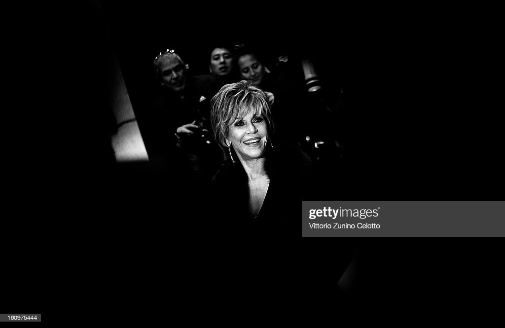 <a gi-track='captionPersonalityLinkClicked' href=/galleries/search?phrase=Jane+Fonda&family=editorial&specificpeople=202174 ng-click='$event.stopPropagation()'>Jane Fonda</a> attends 'Promised Land' Premiere during the 63rd Berlinale International Film Festival on February 8, 2013 in Berlin, Germany.