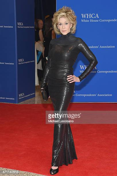 Jane Fonda attends the 101st Annual White House Correspondents' Association Dinner at the Washington Hilton on April 25 2015 in Washington DC