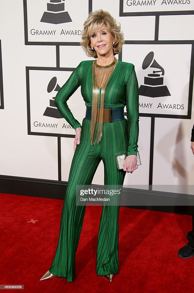 <a gi-track='captionPersonalityLinkClicked' href=/galleries/search?phrase=Jane+Fonda&family=editorial&specificpeople=202174 ng-click='$event.stopPropagation()'>Jane Fonda</a> attends The 57th Annual GRAMMY Awards at the STAPLES Center on February 8, 2015 in Los Angeles, California.