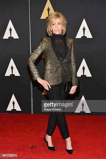Jane Fonda attends the Academy of Motion Picture Arts and Sciences' 7th Annual Governors Awards at The Ray Dolby Ballroom at Hollywood Highland...