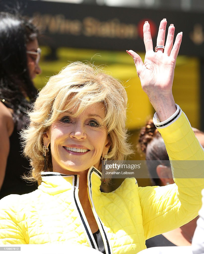 Jane Fonda attends the ceremony honoring Jennifer Lopez with a Star on The Hollywood Walk of Fame held on June 20, 2013 in Hollywood, California.