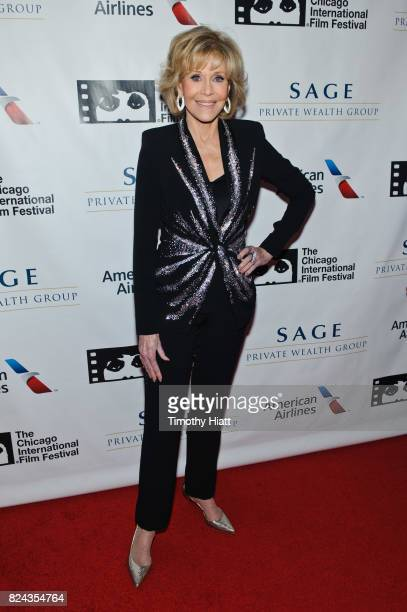 Jane Fonda attends the Cinema/Chicago Honors ceremony on her behalf at Radisson Blu Aqua Hotel on July 29 2017 in Chicago Illinois