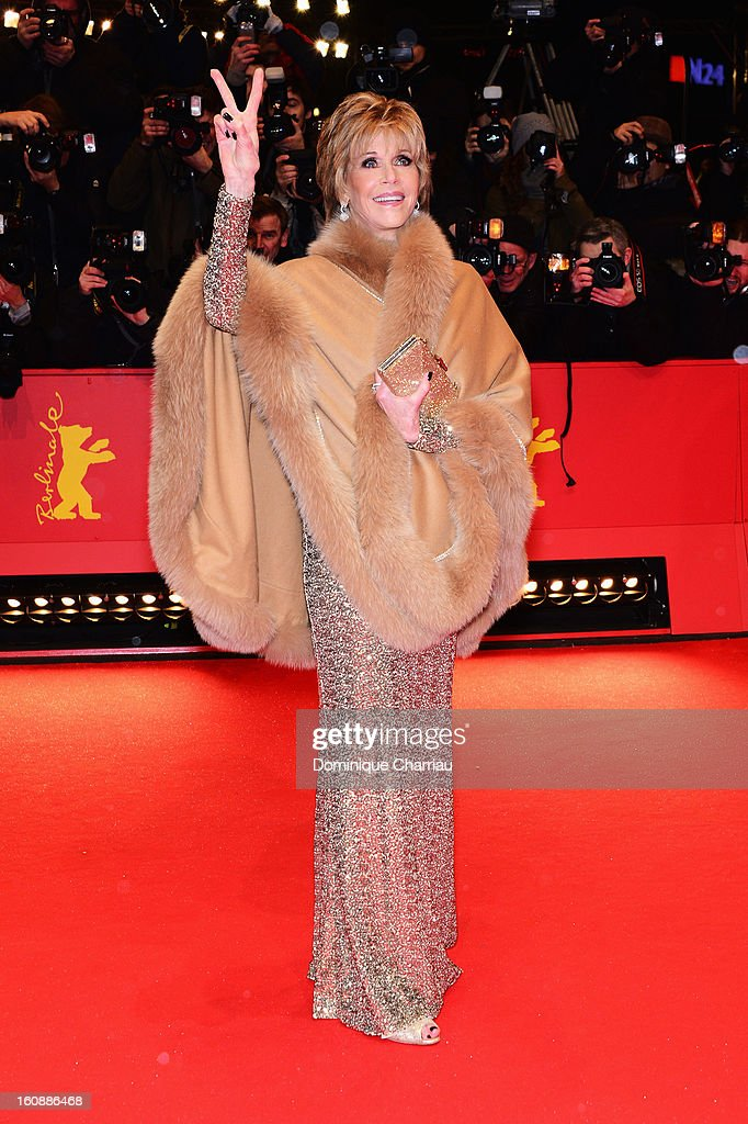 <a gi-track='captionPersonalityLinkClicked' href=/galleries/search?phrase=Jane+Fonda&family=editorial&specificpeople=202174 ng-click='$event.stopPropagation()'>Jane Fonda</a> attends 'The Grandmaster' Premiere during the 63rd Berlinale International Film Festival at Berlinale Palast on February 7, 2013 in Berlin, Germany.