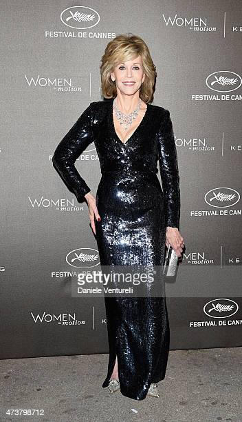 Jane Fonda attends the Kering Official Cannes Dinner at Place de la Castre on May 17 2015 in Cannes France