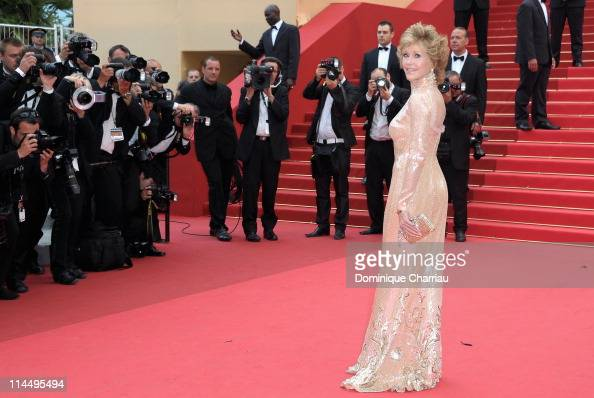 Jane Fonda attends the 'Les BienAimes' Premiere and Closing Ceremony during the 64th Annual Cannes Film Festival at the Palais des Festivals on May...