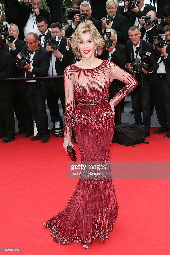 <a gi-track='captionPersonalityLinkClicked' href=/galleries/search?phrase=Jane+Fonda&family=editorial&specificpeople=202174 ng-click='$event.stopPropagation()'>Jane Fonda</a> attends the opening ceremony and 'Grace of Monaco' premiere at the 67th Annual Cannes Film Festival on May 14, 2014 in Cannes, France.