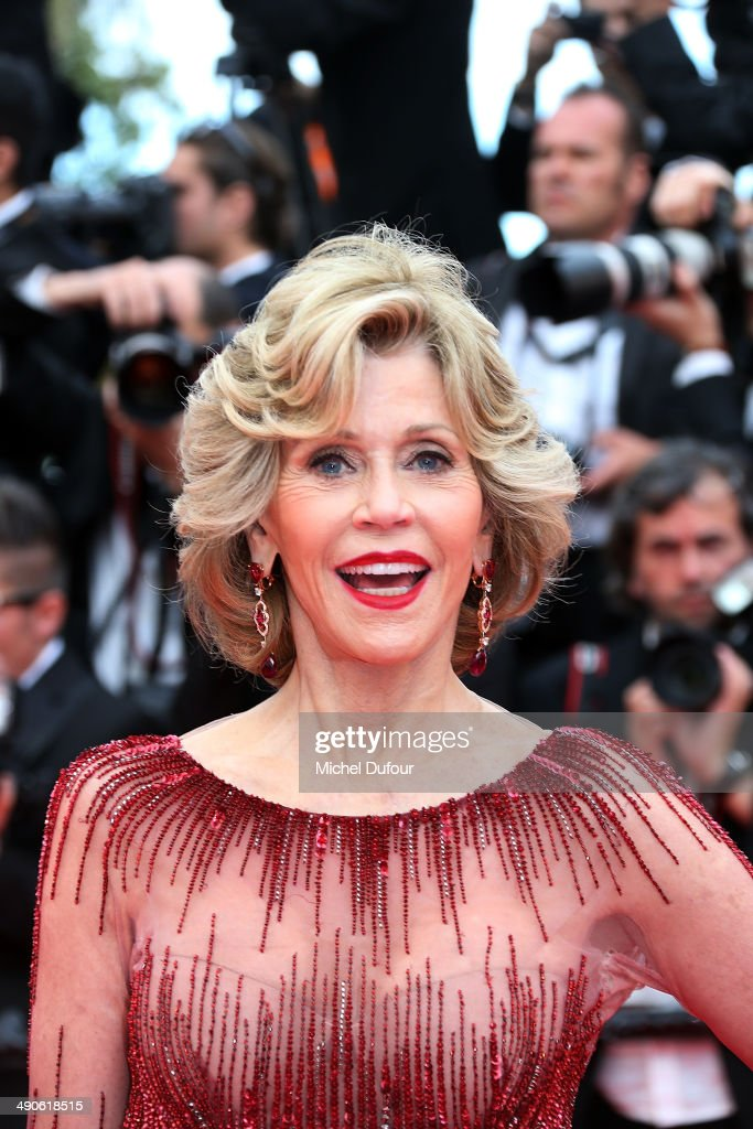 <a gi-track='captionPersonalityLinkClicked' href=/galleries/search?phrase=Jane+Fonda&family=editorial&specificpeople=202174 ng-click='$event.stopPropagation()'>Jane Fonda</a> attends the Opening ceremony and Premiere of 'Grace of Monaco' at the 67th Annual Cannes Film Festival on May 14, 2014 in Cannes, France.