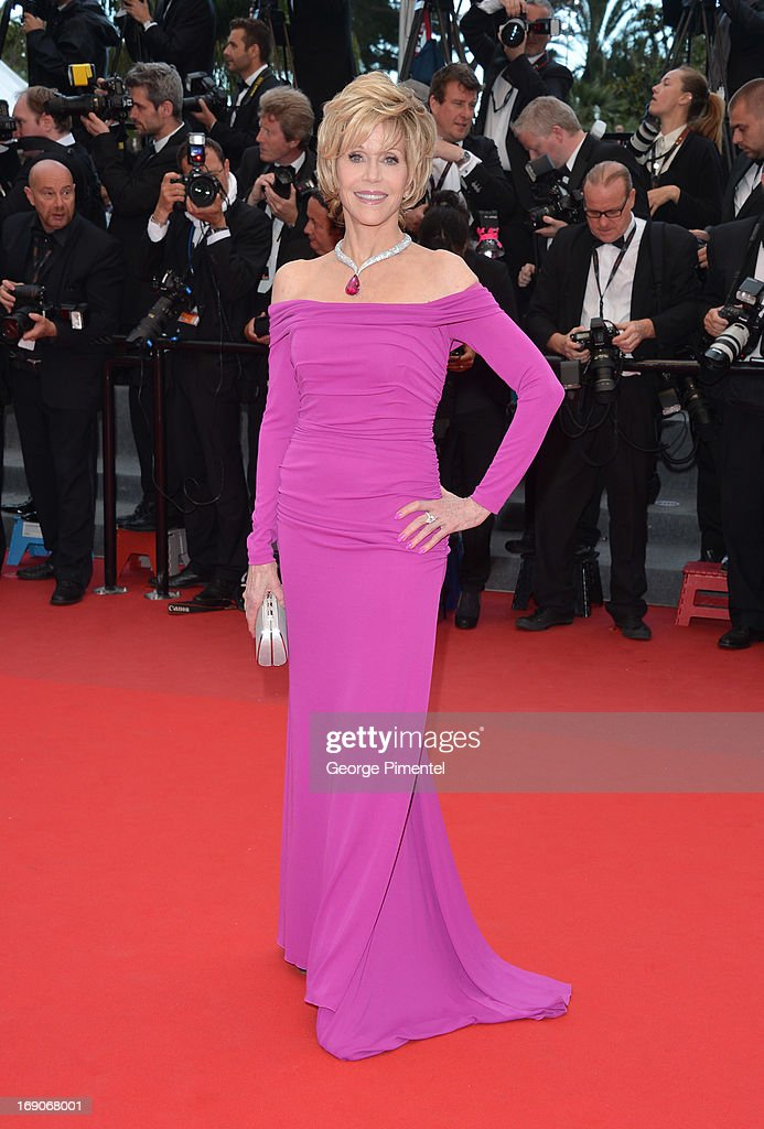 Jane Fonda attends the Premiere of 'Inside Llewyn Davis' at The 66th Annual Cannes Film Festival on May 19, 2013 in Cannes, France.
