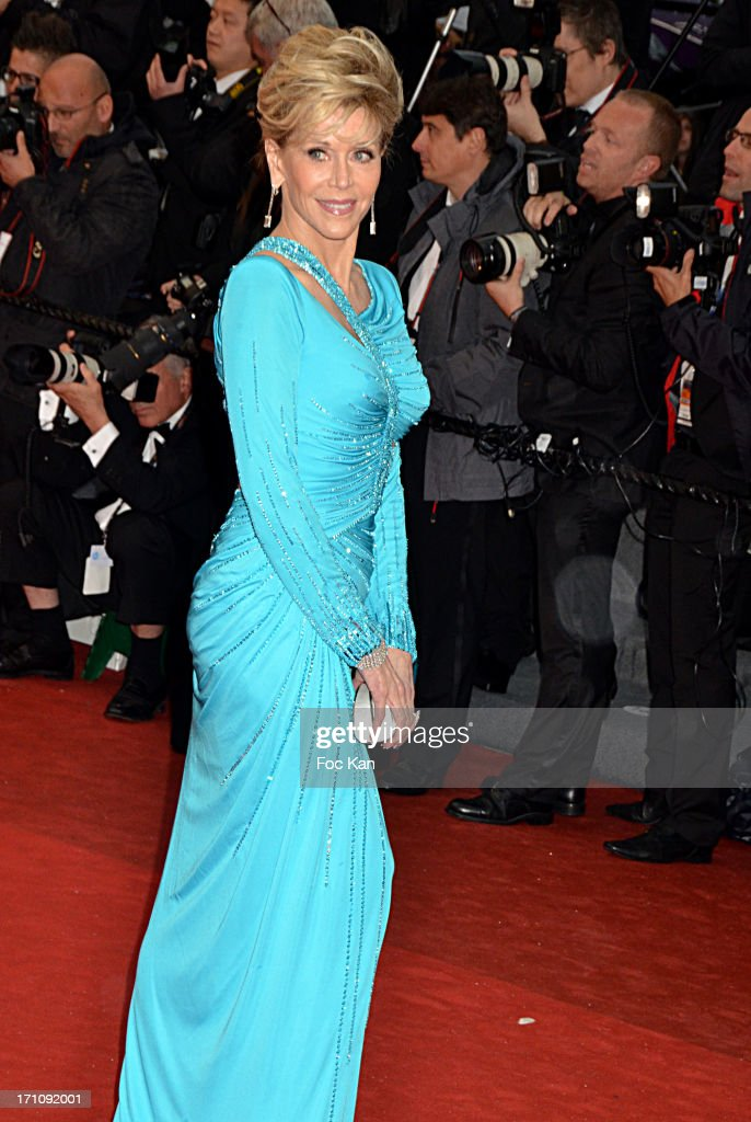 Jane Fonda attends the Premiere of 'Jimmy P. (Psychotherapy Of A Plains Indian)' at Palais des Festivals during The 66th Annual Cannes Film Festival on May 18, 2013 in Cannes, France.