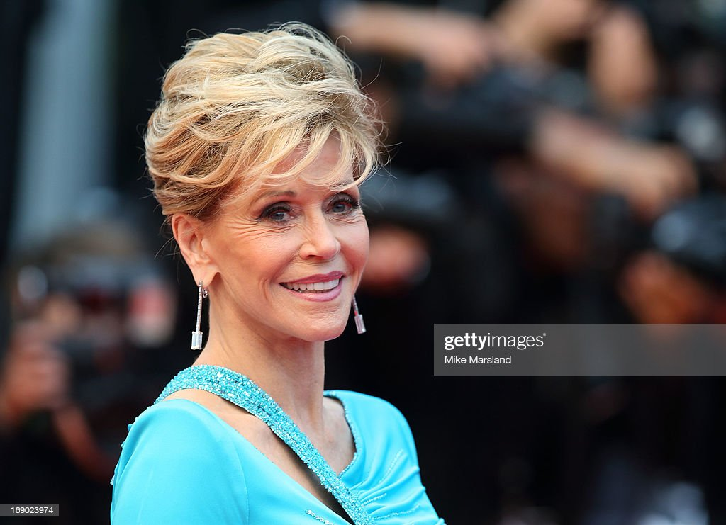 <a gi-track='captionPersonalityLinkClicked' href=/galleries/search?phrase=Jane+Fonda&family=editorial&specificpeople=202174 ng-click='$event.stopPropagation()'>Jane Fonda</a> attends the Premiere of 'Jimmy P. (Psychotherapy Of A Plains Indian)' at The 66th Annual Cannes Film Festival on May 18, 2013 in Cannes, France.
