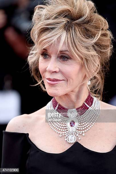 Jane Fonda attends the Premiere of 'Youth' during the 68th annual Cannes Film Festival on May 20 2015 in Cannes France