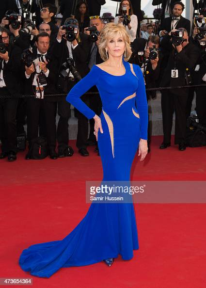 Jane Fonda attends 'The Sea Of Trees' Premiere during the 68th annual Cannes Film Festival on May 16 2015 in Cannes France