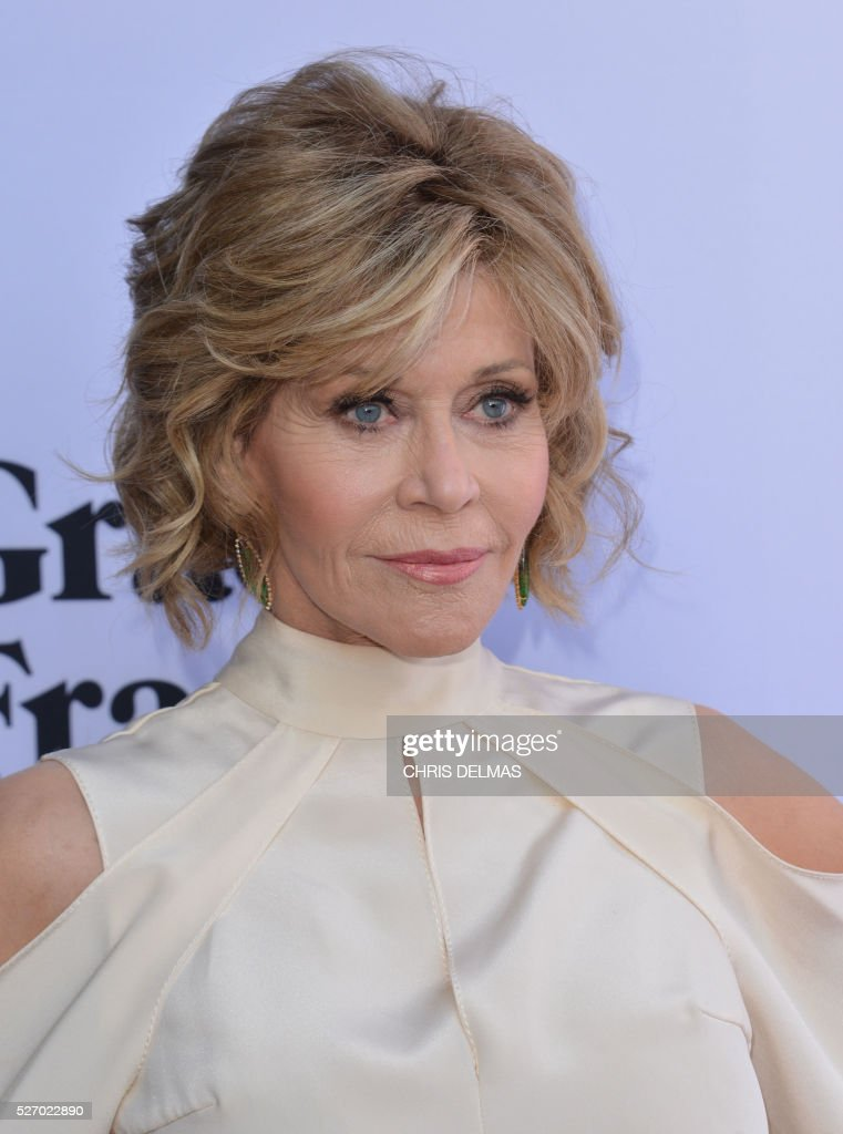 Jane Fonda attends the Season 2 Premiere of Grace and Frankie, in Los Angeles, California, on May 1, 2016. / AFP / CHRIS