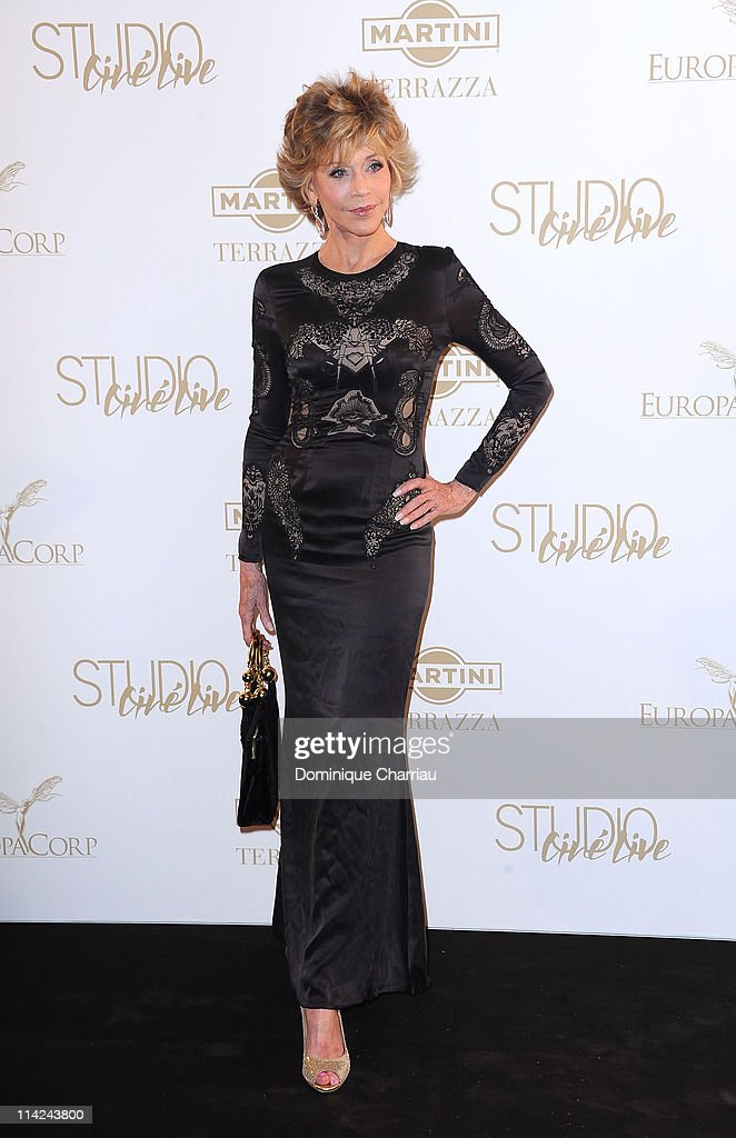 Jane Fonda attends 'The Tree Of Life' Party during the 64th Annual Cannes Film Festival at Martini Terrace Gray D'Albion Beach on May 16 2011 in...
