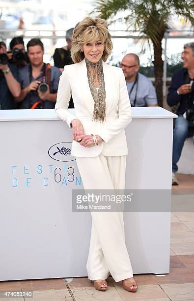 Jane Fonda attends the 'Youth' Photocall during the 68th annual Cannes Film Festival on May 20 2015 in Cannes France