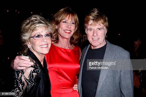 Jane Fonda Christine Lahti and Robert Redford attend ROBERT REDFORD Hosts 2008 SUNDANCE INSTITUTE CELEBRATION FUNDRAISER at Roseland Ballroom at...