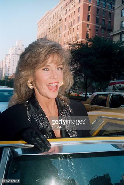 Jane Fonda getting into a cab circa 1980 New York