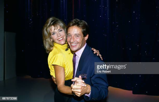 Jane Fonda is embraced by French television show host Patrick Sabatier during her 1989 appearance on his show Avis de Recherche