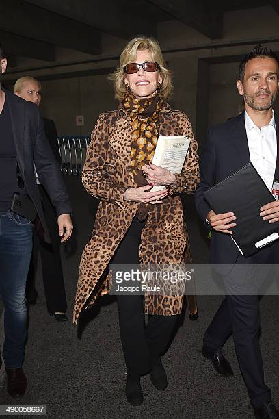 Jane Fonda is seen arriving in Nice for the 67th Annual Cannes Film Festival on May 13 2014 in Nice France