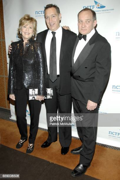Jane Fonda MoisÈs Kaufman and Zach Grenier attend NATIONAL CORPORATE THEATRE FUND'S 2009 CHAIRMAN'S AWARDS GALA at Cipriani's Pegasus on April 20...