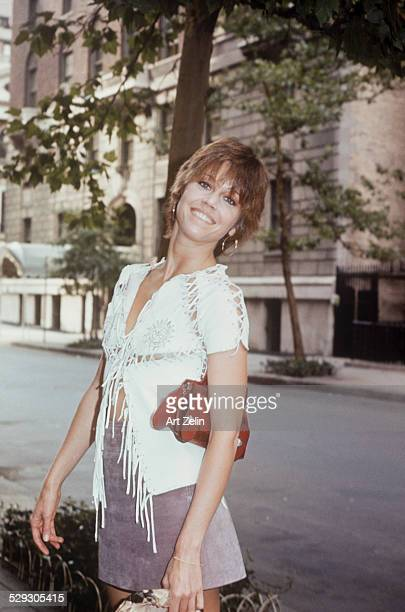Jane Fonda posing for the photo circa 1970 New York