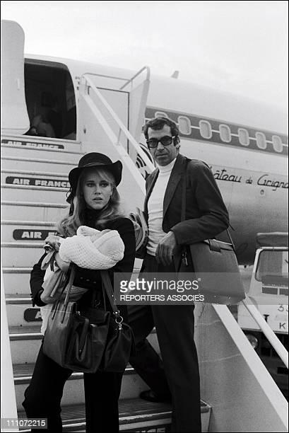 Jane Fonda Roger Vadim And Vanessa Vadim In France In 1968