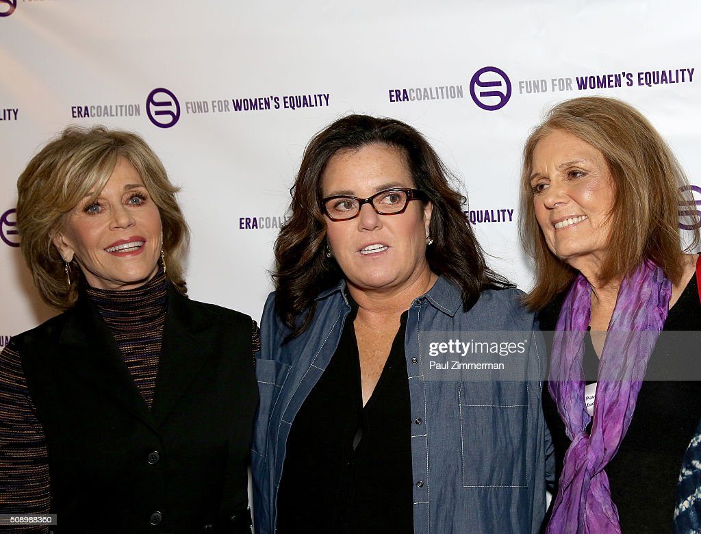 <a gi-track='captionPersonalityLinkClicked' href=/galleries/search?phrase=Jane+Fonda&family=editorial&specificpeople=202174 ng-click='$event.stopPropagation()'>Jane Fonda</a>, <a gi-track='captionPersonalityLinkClicked' href=/galleries/search?phrase=Rosie+O%27Donnell&family=editorial&specificpeople=201730 ng-click='$event.stopPropagation()'>Rosie O'Donnell</a> and <a gi-track='captionPersonalityLinkClicked' href=/galleries/search?phrase=Gloria+Steinem&family=editorial&specificpeople=213078 ng-click='$event.stopPropagation()'>Gloria Steinem</a> attend A Night Of Comedy with <a gi-track='captionPersonalityLinkClicked' href=/galleries/search?phrase=Jane+Fonda&family=editorial&specificpeople=202174 ng-click='$event.stopPropagation()'>Jane Fonda</a> presented by the Fund For Women's Equality & ERA Coalition Carolines On Broadway on February 7, 2016 in New York City.