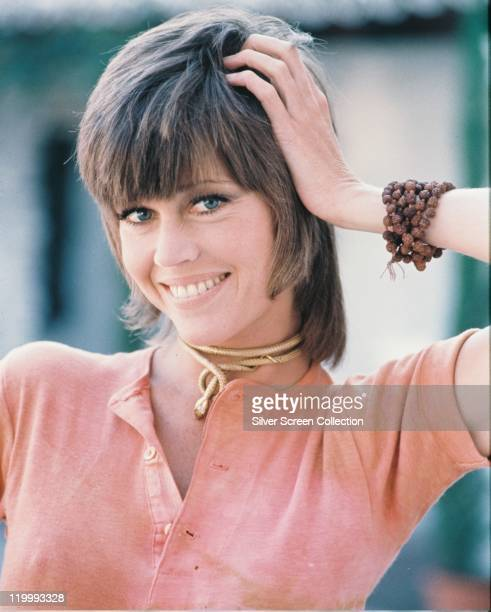Jane Fonda US actress smiling in a publicity portrait issued for the film 'Klute' USA 1971 The thriller directed by Alan J Pakula starred Fonda as...