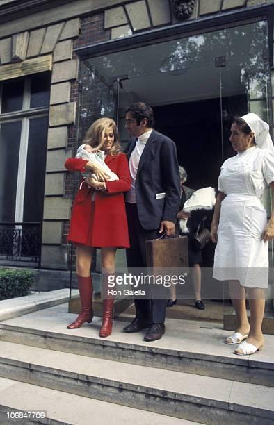 Jane Fonda Vanessa Vadim and Roger Vadim during Jane Fonda and Roger Vadim Depart from the Belvedere Hospital in Paris with Their New Baby Vanessa...