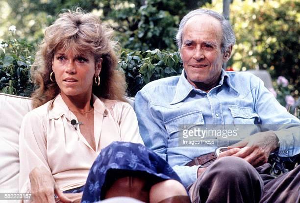 Jane Fonda with father Henry Fonda circa 1979 in Los Angeles California