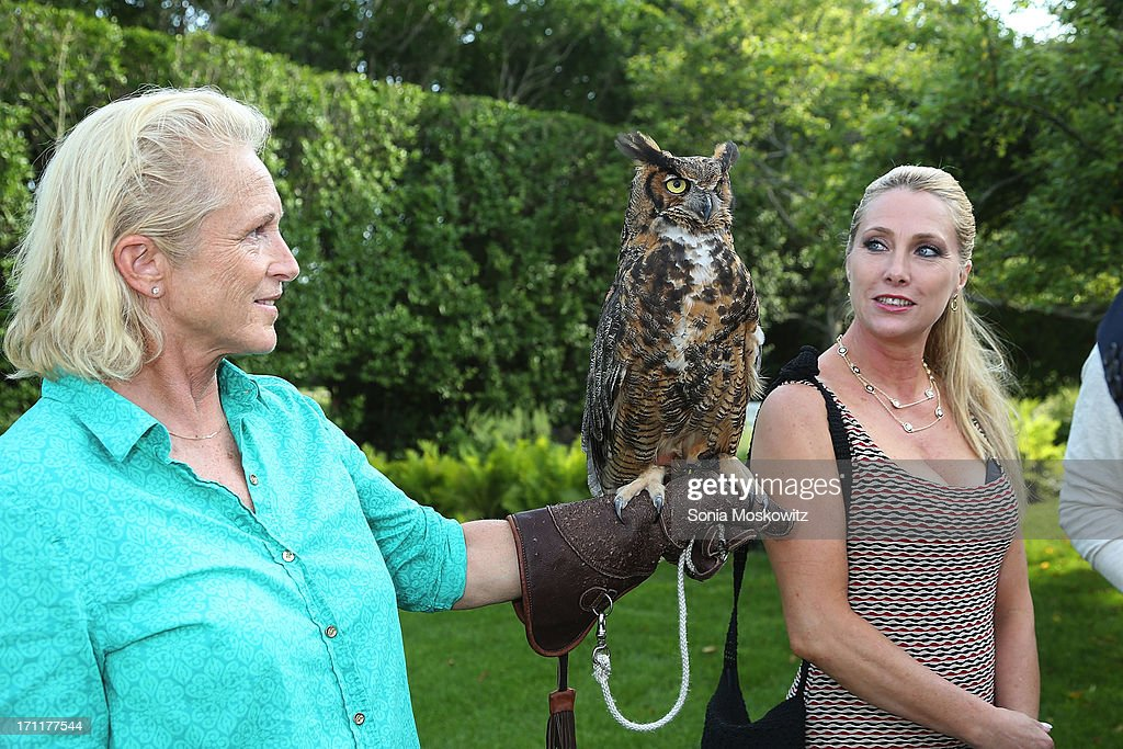 Jane Gill and Alison Quartarolo attend Get Wild Event Benefiting Evelyn Alexander Wildlife Rescue Center at Private Residence on June 22, 2013 in Southampton, New York.