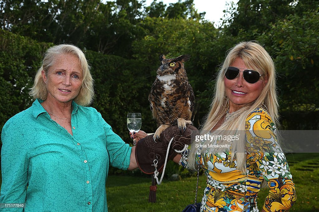 Jane Gill and Karen Goerl attend Get Wild Event Benefiting Evelyn Alexander Wildlife Rescue Center at Private Residence on June 22, 2013 in Southampton, New York.