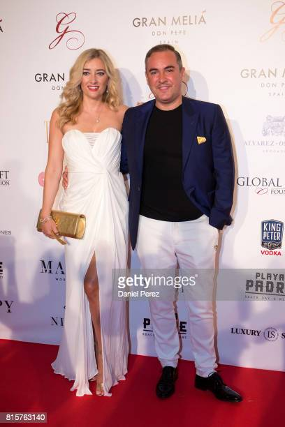Jane Given and Nick Ede attend the Global Gift Gala 2017 red carpet at Gran Melia Don pepe Resort on July 16 2017 in Marbella Spain