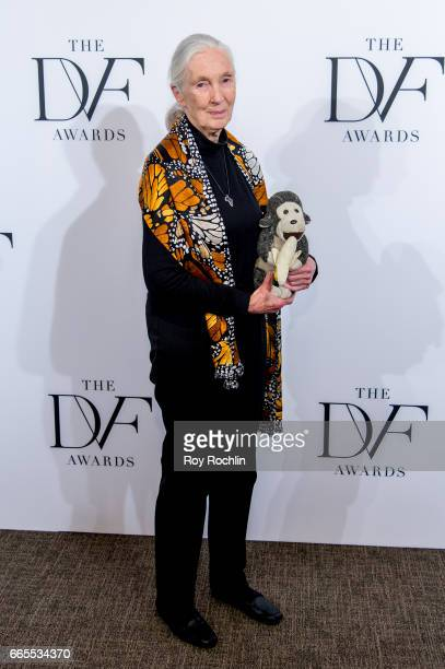 Jane Goodall attends the 2017 DVF Awards at United Nations on April 6 2017 in New York City