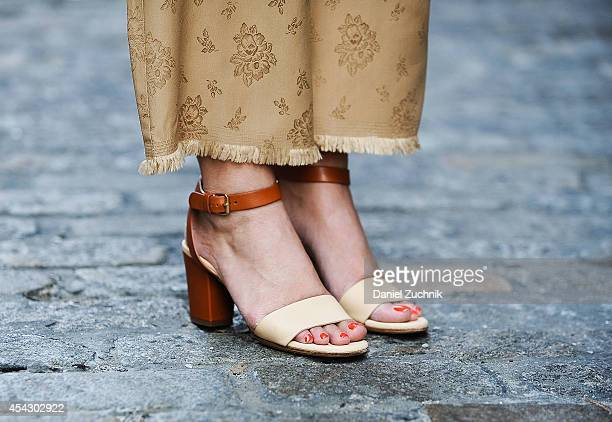 Jane Gray is seen around Soho wearing Phillip Lim pants and Chloe shoes on August 28 2014 in New York City