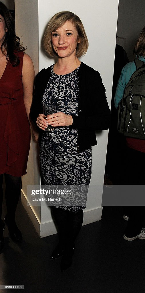 Jane Horrocks attends the UK premiere of 'Broken' at the Hackney Picturehouse on March 4, 2013 in London, England.
