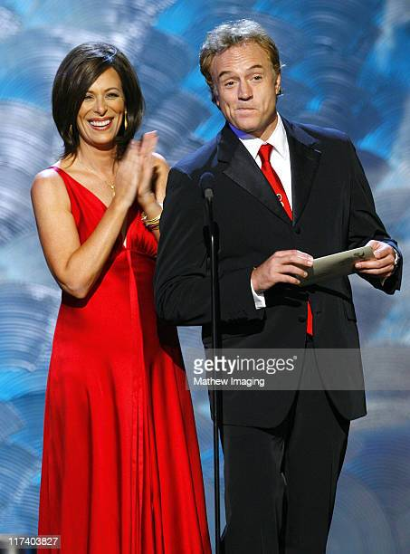Jane Kaczmarek and Bradley Whitford presenters during 58th Annual Creative Arts Emmy Awards Show at The Shrine Auditorium in Los Angeles California...