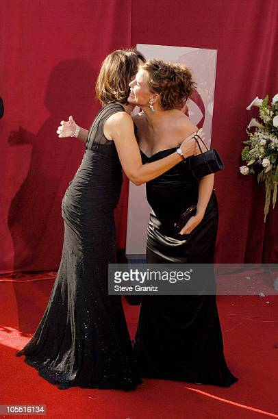 Jane Kaczmarek and Jennifer Garner during The 57th Annual Emmy Awards Arrivals at Shrine Auditorium in Los Angeles California United States